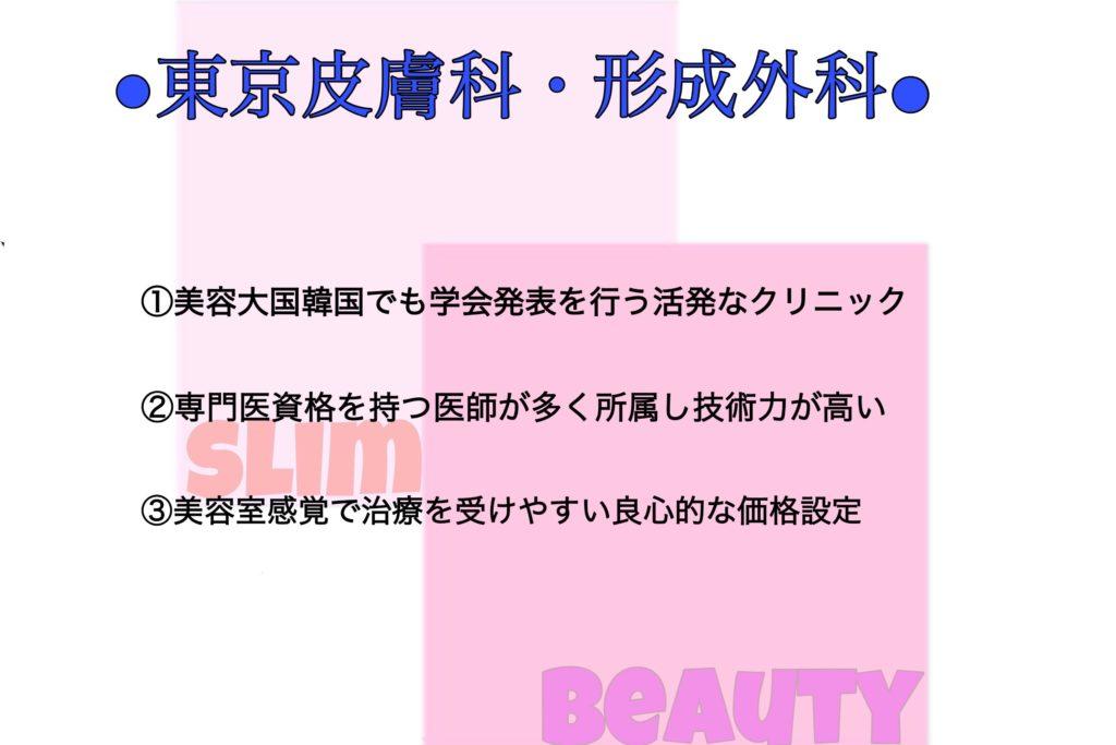 東京皮膚科・形成外科の特徴