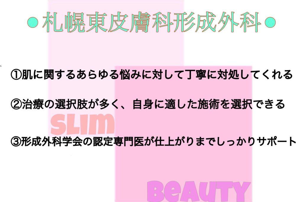 札幌東皮膚科形成外科の特徴